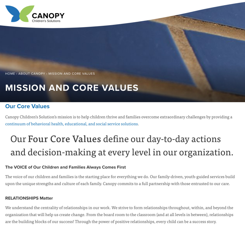 Canopy mission
